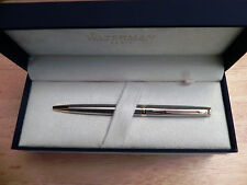 Waterman Hemisphere #S0920370 Stainless Steel & Gold Ball Point Pen New In Box