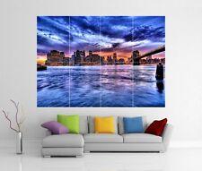 NEW YORK BROOKLYN BRIDGE Giant WALL ART PICTURE PRINT POSTER H232