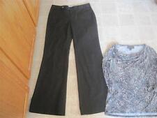 Gap misses sz 4 Long black straight fit Flare leg dress pants & Dana S LOT b15