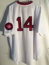 Authentic MLB Jersey Red Sox Jim Rice White Mitchell & Ness sz 56