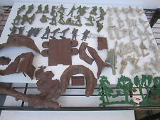 Marx Battleground World War 2 Vintage Original Toy Soldier Playset Lot