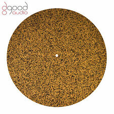 Quality Cork & Neoprene Rubber Record Turntable Deck Platter Mat, Hi-Fi Audio