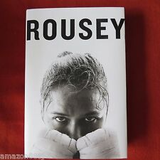 SIGNED BY RONDA ROUSEY*MY FIGHT/OUR FIGHT*2015 HC 1st/1st  UFC WOMEN'S BANTAM