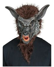 Brown Werewolf Overhead Full Mask Adult Costume Accessory