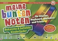 """LIEDERBUCH """"Meine bunten Noten""""- für Triola, Melodica, Keyboard und Klavier"""