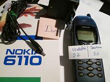 Nokia 6110 blau Metallic SIM D1 T..lekom + D 2 Vodafone Lader gebr. Art. Nr. 8 P