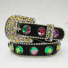 BLACK CRYSTAL RHINESTONE BELT BUCKLE COWGIRL BOOT STRAP ANKLET JEWELRY