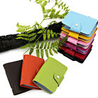 Convenient Pu Leather Pocket Business ID Credit Card Wallet Holder for 24 Cards