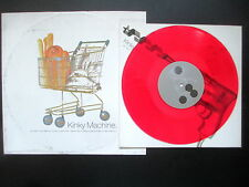 """KINKY MACHINE SHOCKAHOLIC 4 TRACK 10"""" RED VINYL + GOING OUT WITH GOD 12"""" SINGLE"""