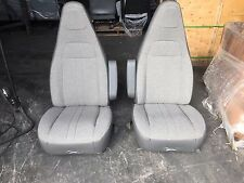 2016+ CHEVY GMC EXPRESS SAVANNA VAN SEATS GRAY CLOTH DRIVER/PASSENGER PAIR SET