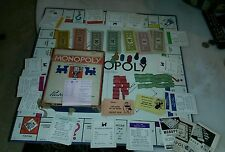 1935 MONOPOLY all Wooden Pcs Complete Box and Board