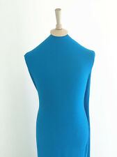 Ocean Blue 4 Way Stretch Luxury Polyester/ Viscose/Elastane Crepe Jersey Fabric