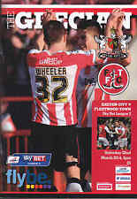 2013/14 EXETER CITY V FLEETWOOD TOWN 22-03-2014 League 2 (Mint)
