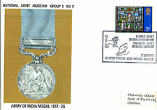 1972 ARMY OF INDIAN MEDAL 1817-26 5/9 ARMY MUSEUM COMMEMORATIVE COVER SHS