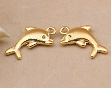 10pc K Gold(Dolphin pendant)Bead Charms Accessories wholesale PJ2487