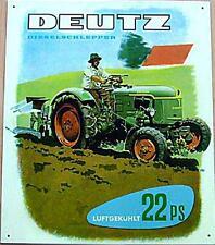Älteres Blechschild  Traktor Deutz Diesel Schlepper gebraucht used