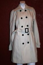 ESPRIT COLLECTION DOUBLE BREASTED COAT BEIGE WOOL BLEND  SIZE S