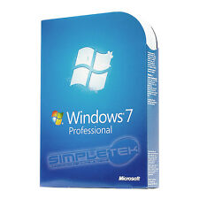 LICENZA BOX WINDOWS 7 PROFESSIONAL RETAIL ORIGINALE + DVD FULL MICROSOFT