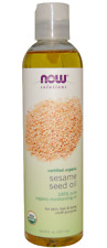 NEW NOW FOODS SOLUTIONS MOISTURIZER SESAME SEED OIL MULTI-PURPOSE NATURAL DAILY