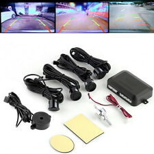 4 Parking Sensors Car Backup Reverse Radar Rearview Mirror Colored LED Display T