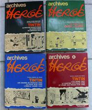 Archives Hergé, 1973 - 1980, Casterman, Tomes 1, 2, 3, 4.