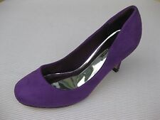 Pierre Dumas Womens Shoes NEW $45 Liza Purple Faux Suede Pump 8 M