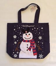 BNWT Disney Parks Walt Disney World Snowman Holiday Tote Bag Purse Mickey Mouse