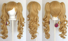 23'' Curly Pig Tails + Base Butterscotch Blonde Cosplay Wig NEW