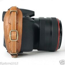 Herringbone Heritage Leather Camera Hand Grip Strap Camel Type2 for DSLR Camera