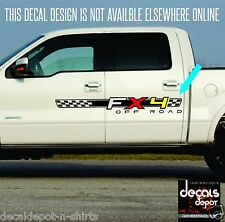 4x4 Fx4 Truck Bed Decals, Silver (Set) for Ford F-150 and Super Duty