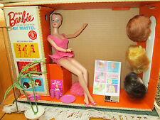 "1964 ORIGINAL""MISS BARBIE""in BOX~COMPLETE SET~SWING~WIGS~STAND~OSS~1st BEND LEGS"