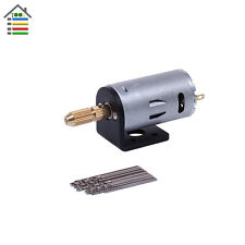 Mini Micro Hand Electric Drill 12V DC Motor PCB Press Drilling W/ Stand Bracket