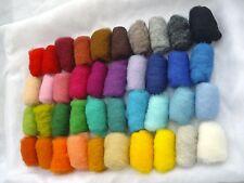 Set 4.2 oz / 120 gr Sheep Wool Fiber for Needle Felting, Spinning, 40 Colors set
