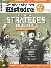 LES GRANDES AFFAIRES DE L'HISTOIRE N° 19 / LES GRANDS STRATEGES MILITAIRES