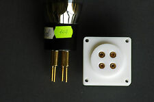 TEFLON TUBE SOCKET for Power tube 300B, 2A3, 10Y, etc.a paire