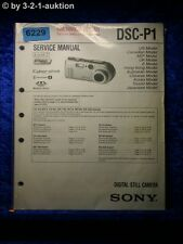 Sony Service Manual DSC P1 Level 2 Digital Still Camera (#6229)