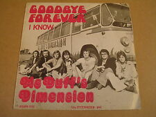 45T SINGLE WITH AUTOBUS CAR COVER/ Mc DUFF's DIMENSION - GOODBYE FOREVER