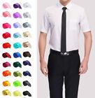 Men's Solid Color Plain Silk Narrow Arrow Necktie Skinny Tie Neckwear