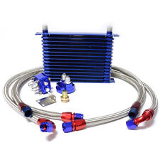 15 Row 10AN Universal Engine Transmis​sion Oil Cooler + Filter Relocation Kit