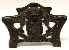 Antique Vintage Expandable Owl Book Ends Art Nouveau Judd MFG Co. Bookends Rack
