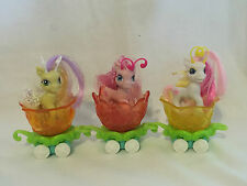 FREE POST 3 MY LITTLE PONY PONYVILLE BREEZIES FLUFFALUFF SILLY LILLY carriages