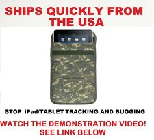 iPad/Tablet Padded Case/Pouch RF Signal Blocker/Jammer. Stop  Tracking/Hacking.