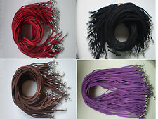 new Wholesale 40pcs Suede Leather String 20 inch Necklace Cord 4 color
