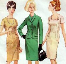 Vintage 60s SLIM DRESS & JACKET Sewing Pattern Bust 36 Size 12 Evening RETRO