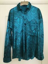 Marks and Spencer ladies shirt blouse size 10 GREEN and BLACK print