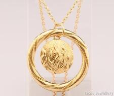 Divergent Insurgent The Flames of Courage Dauntless Pendant Necklace GOLD