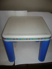 LITTLE TIKES CHILD SIZE BLUE AND WHITE TABLE ARTS CRAFTS VERY RARE