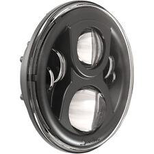 """JW Speaker Black Evolution 2 L.E.D Led 7"""" Headlight Hi Low Beam For Harley & Met"""