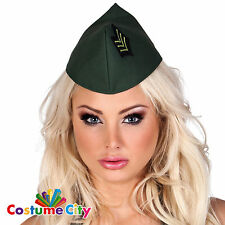 Adults Mens Womens Army Side Cap Military Soldier Fancy Dress Costume Accessory