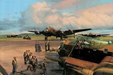 Robert Taylor print, Band of Brothers, autographed by 4 Lancaster crewman